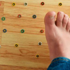 This is what neuropathy pain feel like; stepping on needles