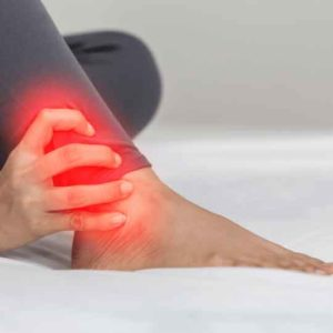 Woman with ankle pain should see a foot doctor soon